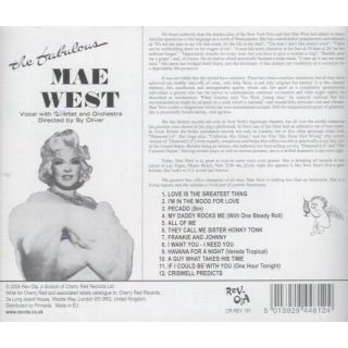 WEST, MAE - The Fabulous Mae West