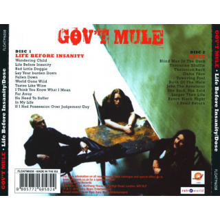 GOVT MULE - Life Before Insanity/Dose