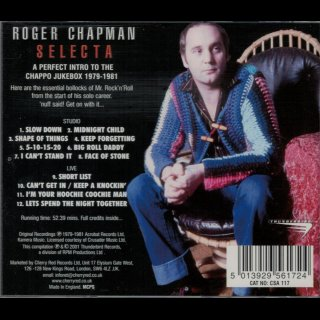 CHAPMAN, ROGER - Selecta - The Best Of 1979-1981
