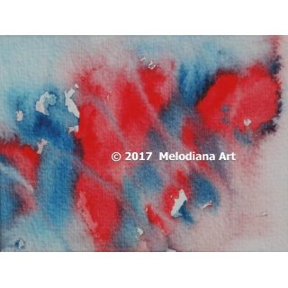 Fine Art Print - Blue & Red