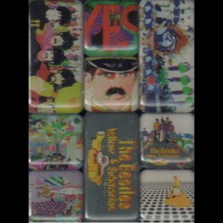 BEATLES, THE - Magnet Set Yellow Submarine - Set 9 Magnete